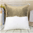 Cntomlv Pillowcase Decorative Mermaid Sequin Colorful Square Plain Knitted Hidden Zipper Pillow Home Car Sofa Cushion Cover 40*40