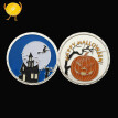 Halloween double-glazed pumpkin coin religious lucky prayer coin Creative Halloween Gifts Pumpkin Witch Challenge Coin