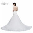 Babyonlinedress Applique Long Mermaid Wedding Dress 2018 Sleeveless Sheer Back Bridal Dresses Lace Gown Wedding Gowns