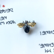 K1 Jewelry Small Bee Brooch Mini Insect Fashion collar Accessories Suit Open lining pin Pin Female gift