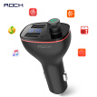 ROCK Car MP3 Audio Player Bluetooth Kit FM Transmitter Handsfree Calling 5V 3.4A Dual USB Car Charger Battery Voltage Detection