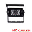 DC 12~24V Car backup Camera, CCD BUS Truck Camera 18 IR lights Rear View Reverse parking Camera 15m 10m video cable Night vision