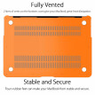 "UESWILL Smooth Soft-Touch Matte Frosted Hard Shell Case Cover for MacBook Air 11"" (Model: A1370/A1465)- Orange"
