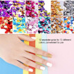 12 Grids set Arcylic Nail Glitter Set Dust Powder for Nail Art Tip Decoration Rhinestone Manicure Nail Art Tool