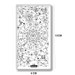 Constellation Series Rectangle Nail Stamping Template Divination Star Fish scorpion Design Manicure Art Image Print Plate C59