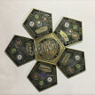 US .army, navy and air force four military commemorative coin pentagon shaped military challenge coins
