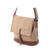 Brand new canvas bag men canvas messenger bag high-grade leather crossbody bag high quality women shoulder messenger bag