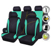 car seat covers set protectors fashion lady female washable breathable airbag compatible rear bench split 40/60 50/50 60/40