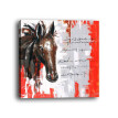 Framed Canvas Modern Living Room Bedroom Background Wall Abstract Horse Decorative Painting