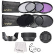 49mm 52mm 55mm  58mm 62mm 67mm 72mm UV CPL FLD ND 2 4 8 Lens Filter Kit Pouch   Hood   Cap for Canon Nikon X9I6