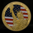 American 45th President Donald Trump Coin US White House The Statue of Liberty Metal Coin Collection Challenge Coin Gold/Silver