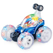Diezhongdie Stunt Car Toy Remote Control Car Rechargeable Children's Toys Flash & Music Dancing Rolling Car 9008A