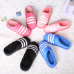 Winter three bars home floor slippers indoor and outdoor lovers half pack with cotton shoes moon shoes warm cotton mop