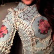 Summer beads Cloth embroidery top luxury Patchwork Bodycon Cloth Casual Embroidery lace dress expensive plus size lady Clothes