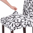High Quality Stretch Removable Washable Short Dining Chair Cover Soft Milk Silk Spandex Printing Chair Cover Slipcover for Wedding