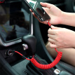 Baseus Apple data cable car car charger mobile phone charging cable retractable for iphone5/5s/6/6s/Plus/7/8/X/iPad/Air/Pro1 meter red