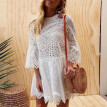 Sexy Mini Lace Dresses Women Flare Sleeve Hollow out Beach Summer Dress Female Casual Clothes 2018 New Plus Sizes