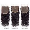 7A Brazilian Virgin Hair Deep Wave Bundles with Closure 4x4 Human Hair with Closure Soft and Bouncy Deep Wave with Closure