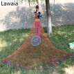 Lawaia Old Salt Cast Net Throw Net tire Line Rotary Fishing Network Diameter 3m-9m Hand Fishing Net Tool With Blue Ring  Features