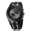 Men Fashion High Quality Quartz Movement Watch Daily Waterproof Accurate Silicone Wristwatch Round Case Button Buckle V6 Brand Watch V260B