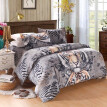 Tiger Pattern 4Pcs 3D Printed Bedding Set Bedclothes Home Textiles Queen Size Quilt Cover Bed Sheet 2 Pillowcases