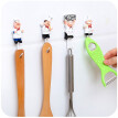 Self Adhesive Chef resin wall hook hat coat hanger Key Holder home decor kitchen organizer