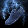 Fashion Men 's classic Denim Canvas Sports Slip-On  Tie Shoes  39-44 code