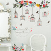 Birdcage Flower Decorative Wall Stickers Art Wall Stickers Kid Room Bedroom Wallpaper