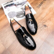 Mens Classic Leather Pointed Toe Oxford Lace Dress Shoes for Business Wedding Party