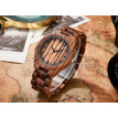Fashion Unique Hollow Dial Wood Bracelet Watches Mens 2017 New Cool Men Clock Bamboo Brown Quartz Wristwatch Modern Relogio W071