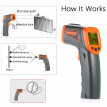 SMART SENSOR 32~500℃ 12:1 Portable Handheld Digital Non-contact IR Infrared Thermometer Temperature Tester Pyrometer LCD Display