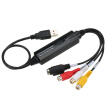 USB Video Audio Capture Grabber Recorder Adapter Card for MAC OS 10.4 - 10.12 Camcorder VHS Tape VCR DVD TV Box
