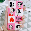 STFFER Apple X/10 Mobile Shell Shaking with the Same Mobile Phone Cover Network Red Personality Creative Tide Brand All-inclusive Anti-fall Cute Fashion Women - Oliver