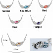 High Quality Vintage Wings Necklace Crystal from Austrian Elements Women Fashion Jewelry White Gold Plated 13309