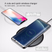 Baseus 15W Qi Wireless ChargeriPhone XS XR XS Max  8 8Pus Wireless Charging For Samsung S9 S8 S7 Note8 Portable for Phone charger