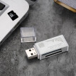 All in One Card Reader USB 2.0 Mini Portable For SD/TF/MS micro(M2)