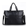P.kuone® Men's leather men handbag brand genuine leather briefcase shoulder bag large computer business bag for men