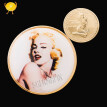 Beautiful Marilyn Monroe coin gold plated American sexy woman coin round art crafts collection New