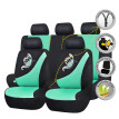 car seat covers set protector butterfly embroidery airbag compatible rear bench split 40/60 50/50 60/40