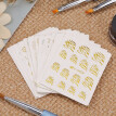 30 Sheets Fashion 3D Gold   Silver Designs Nail Sticker Water Transfer Nail Decals Nail Paper Tip Beauty DIY