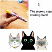 Portable Colorful Pen Car Tyre Tire Tread Rubber Metal Permanent Paint Markers Graffiti Oily Scratch Repairing Marker Pen