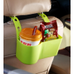 Creative vehicle mounted large capacity partition box  Adjustable rear seat litter box  Car collecting basket