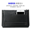 Bo brand Bopai men's hand bag first layer leather hand bag men's casual envelope bag business clutch bag vegetable skin soft and wearable black 812-019711