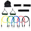 11pc Resistance Band Set - with Door Anchor, Handles, Ankle Straps - Stackable Up To 100lbs - For Resistance Training, Physical
