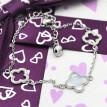 Womens Shell Cross Flower Charm Stainless Steel Link Chain Bracelet