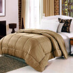 【Shipping from US】230 * 230 CM Queen Size Solid Color Winter Polyester Fiber Alternative Comforter Bedclothes Coffee/green/beige/c