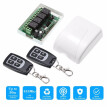 433Mhz DC 12V 4CH Universal 10A Relay Wireless Remote Control Switch Receiver Module and 1PCS 4 Key RF 433 Mhz Transmitter Remote