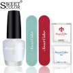 SweetColor Nail Polish Nail Set Basic Manicure Tool (Liang Oil 5ml + Polishing Bar + Purlin + Clean Cotton 3 Piece + Unloading Towel 3 Pieces)