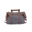 Trendy Canvas Top-handle Bag Men Women Leather Messenger Bags High Quality Casual Handbags Brand Design Shoulder Bags
