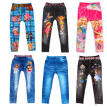 Children's 3-8 Age Winter Cotton Leggings Spring Kids Digital Printing Jeans Boy Girl Baby Cartoon Pattern Trousers Pants